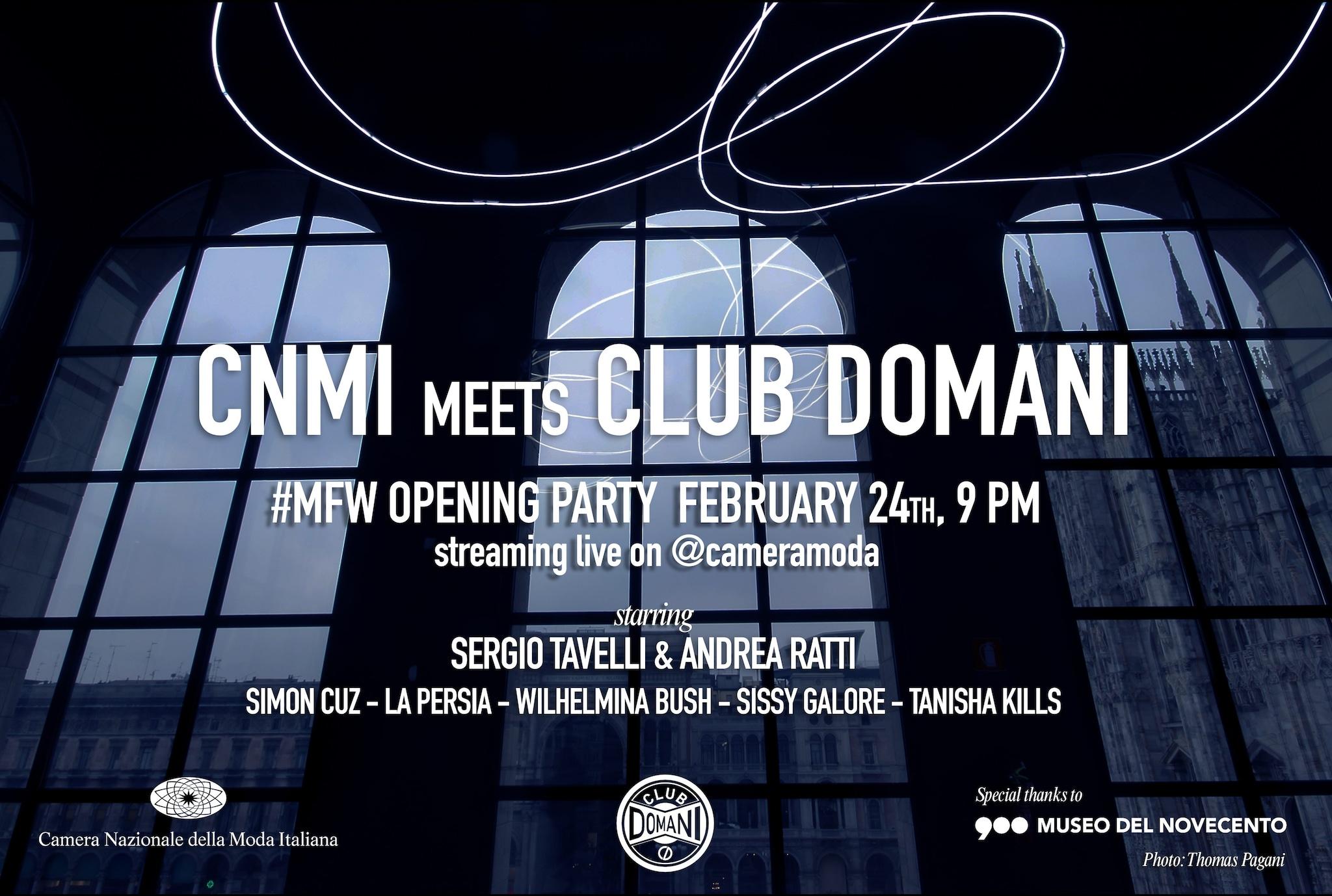La locandina dell'evento CNMI meets Club Domani
