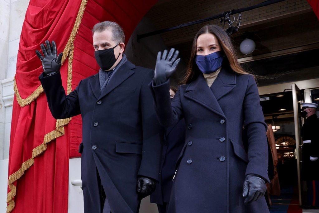 Ashely Biden e Hunter Biden all'Inauguration Day