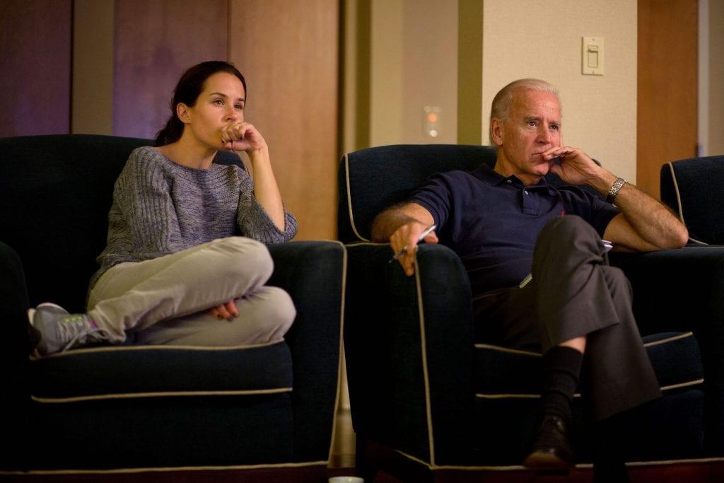 Ashley Biden con il padre Joe nel 2012