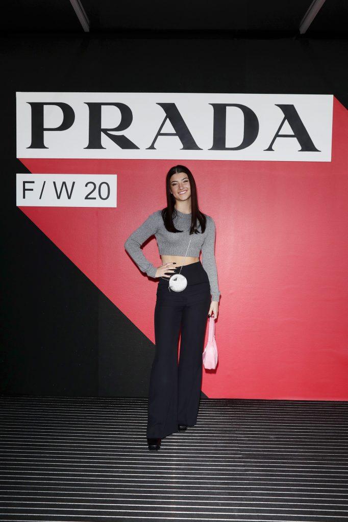 La tiktoker Charli D'Amelio alla sfilata Prada