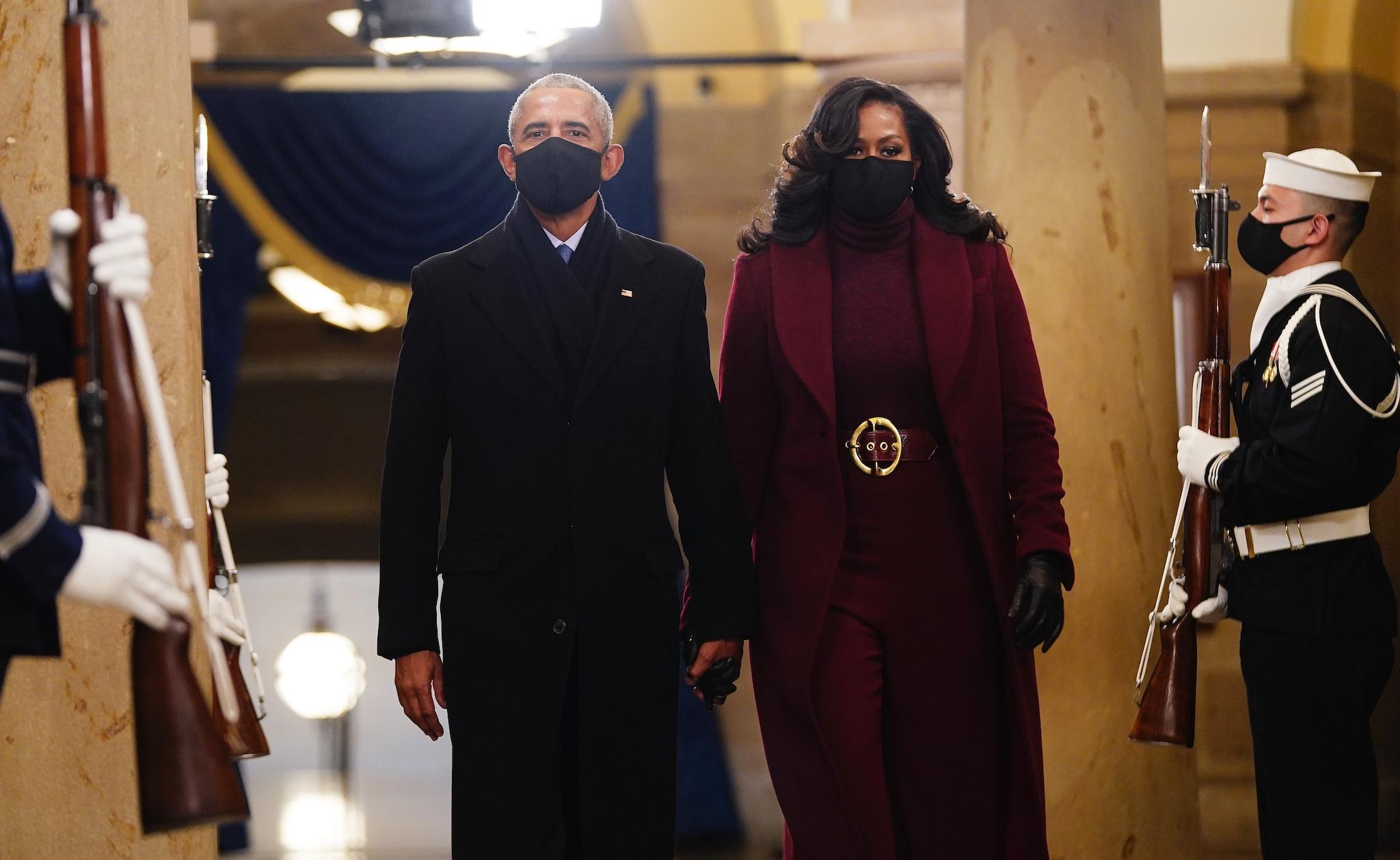 Michelle e Barack Obama all'Inauguration Day
