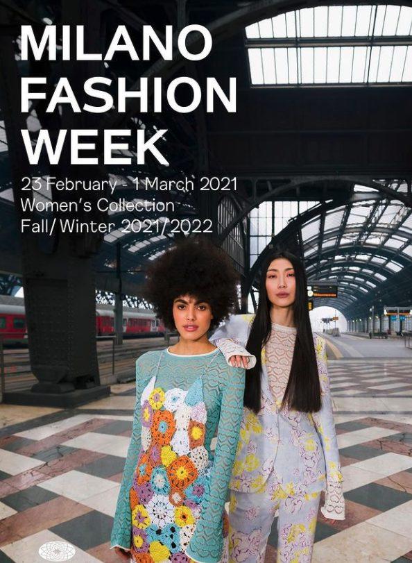 la locandina della Milano Fashion Week