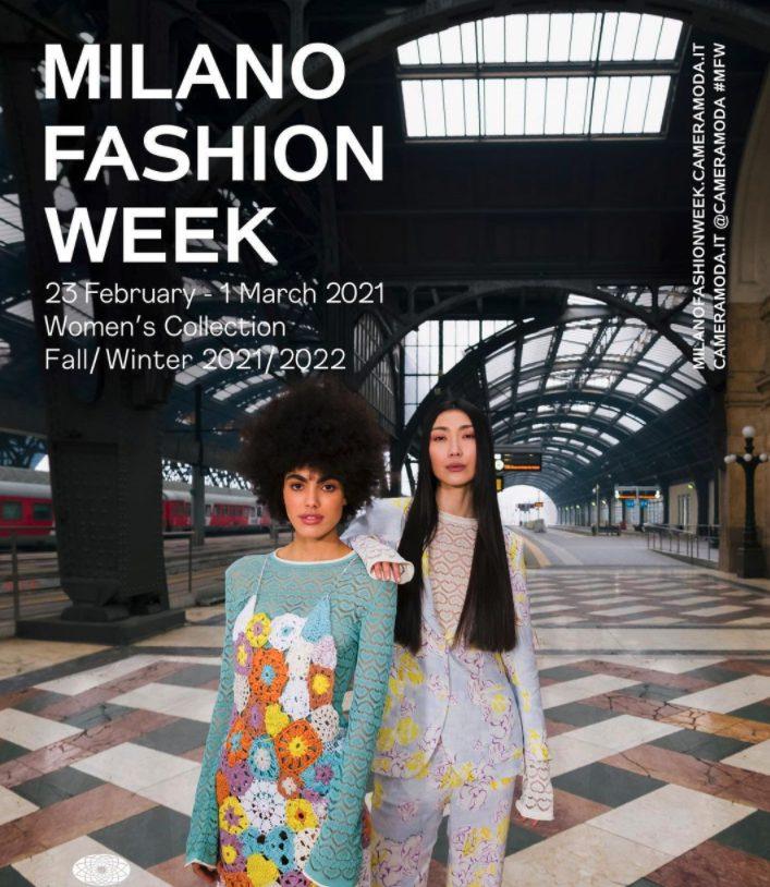 la locandina ufficiale della Milano Fashion Week