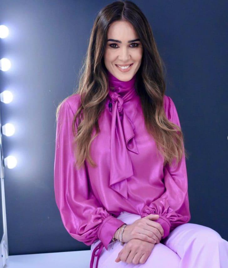 Il look in rosa di Silvia Toffanin