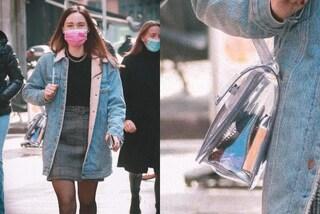 Aurora Ramazzotti, look casual ma con un dettaglio di lusso: la borsa trasparente costa mille euro