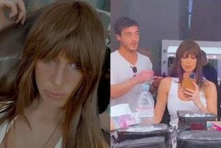 """Belén con la frangia: il nuovo parrucchiere """"personale"""" della Rodriguez è il fidanzato Antonino"""