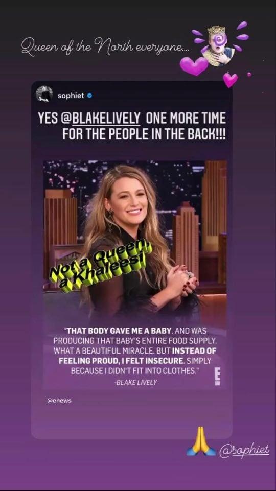 Blake Lively parla del periodo post–parto