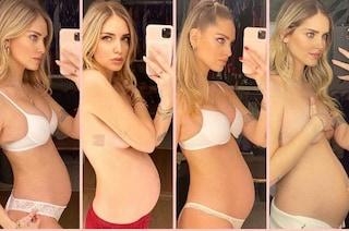 Chiara Ferragni mostra la pancia: come è cambiata da inizio gravidanza a oggi