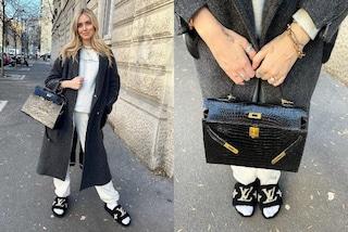 Chiara Ferragni in gravidanza esce in ciabatte di pelo (ma con la borsa da 14mila euro)