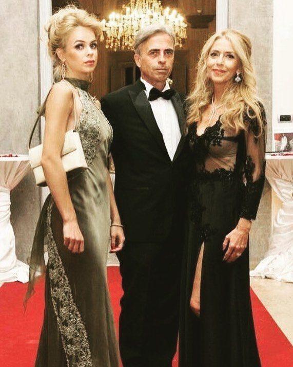Drusilla con i genitori Stefania e Uberto Gucci