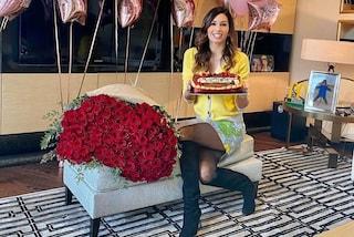 Elisabetta Gregoraci, compleanno in casa tra torte personalizzate e un look che sa di primavera
