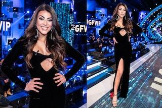 Giulia Salemi veste vintage per la semifinale del GF Vip: seduce in nero col dettaglio cut-out