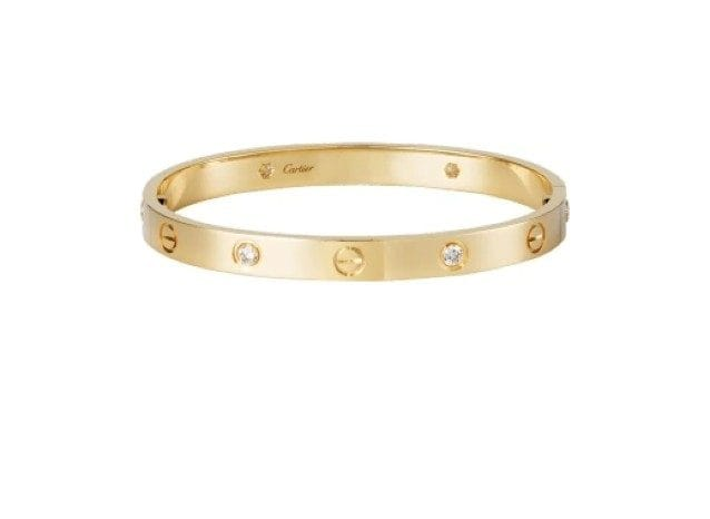 Bracciale Love 4 diamanti di Cartier