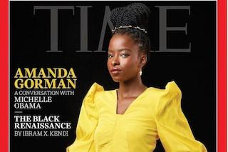 """Amanda Gorman in copertina sul Time: """"Donne nere trattate come fulmini passeggeri che non dureranno"""""""