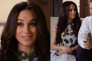 Meghan Markle, limoni sull'abito e capelli lunghi: il primo look premaman è perfetto per la primavera