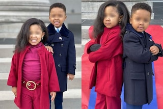 Carnevale 2021, i bambini travestiti da Michelle e Barack Obama all'Inauguration Day sono virali