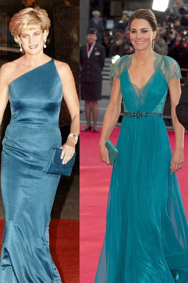 Diana nel 1996, Kate nel 2012
