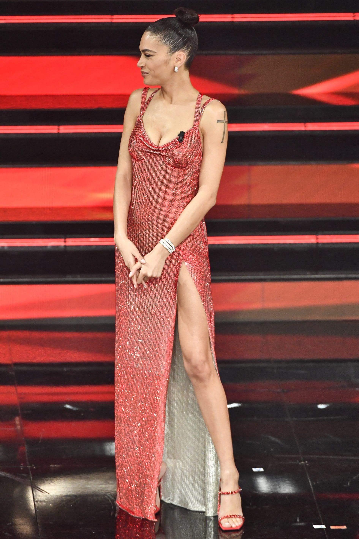 Elodie in Versace