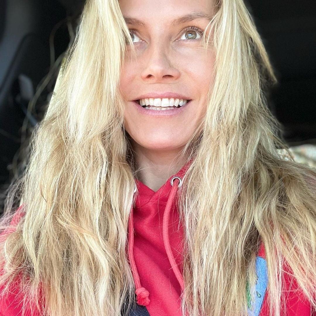 Heidi Klum in versione acqua e sapone