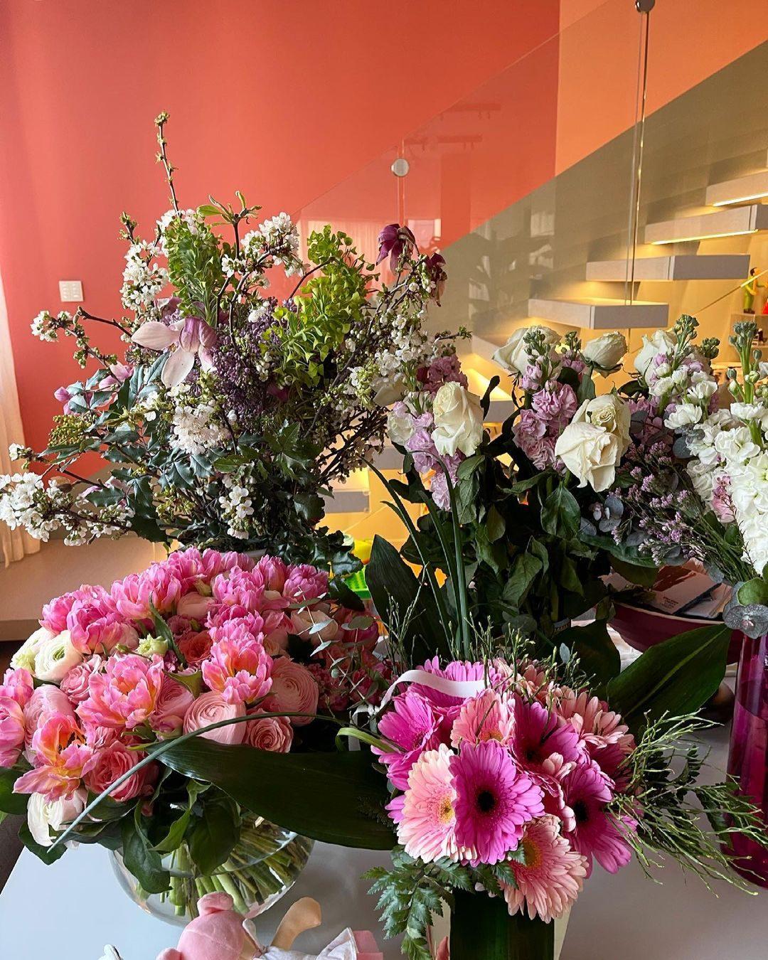I fiori ricevuti dopo la nascita di Vittoria