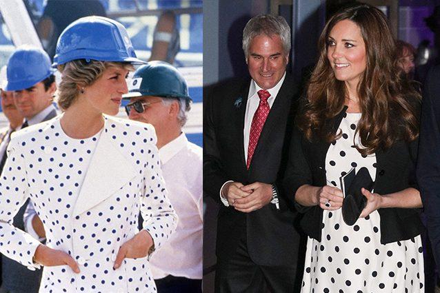 L'abito a pois di Diana e Kate