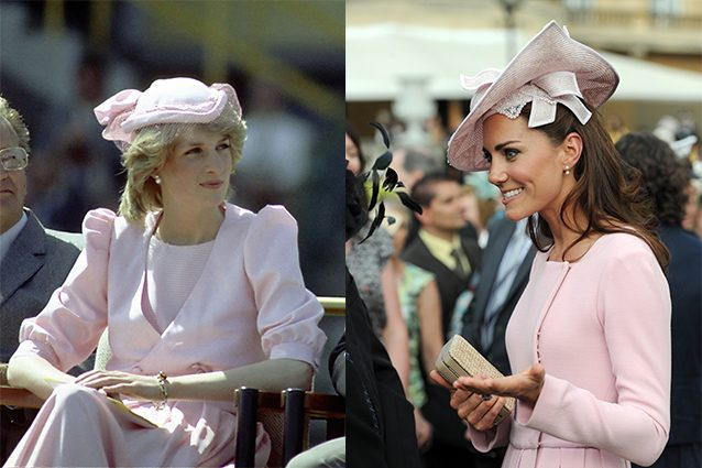 Diana nel 1983 e Kate nel 2012