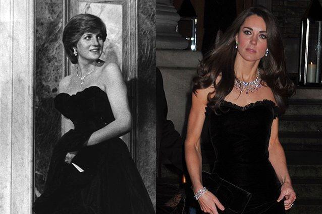 Diana nel 1981 e Kate nel 2011