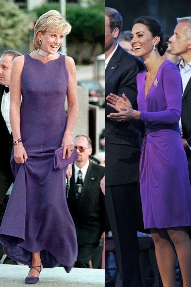 Diana nel 1996, Kate nel 2011