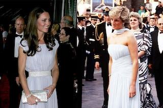 Kate Middleton si ispira ai look iconici di lady Diana: l'omaggio nascosto nei suoi abiti