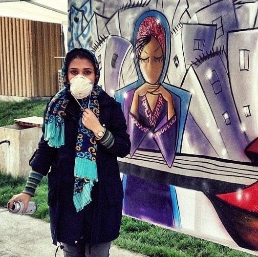 Shamsia Hassani, dall'account Instagram @shamsiahassani