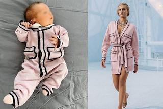 Vittoria Lucia Ferragni chic in rosa: la tutina da 300 euro sembra uscita da una sfilata di Chanel