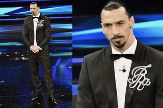 Zlatan Ibrahimović con la giacca personalizzata a Sanremo: al Festival spopola con i completi eleganti