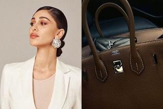 Belén Rodriguez mostra i nuovi accessori di lusso: borsa e portafogli valgono quasi 9mila euro