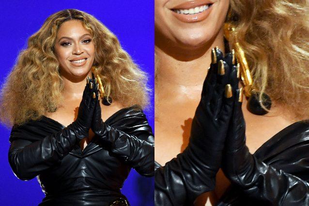 Le unghie gold della popstar