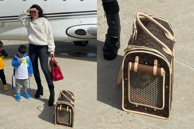 Il trasportino per cani di Georgina Rodriguez è di Louis Vuitton