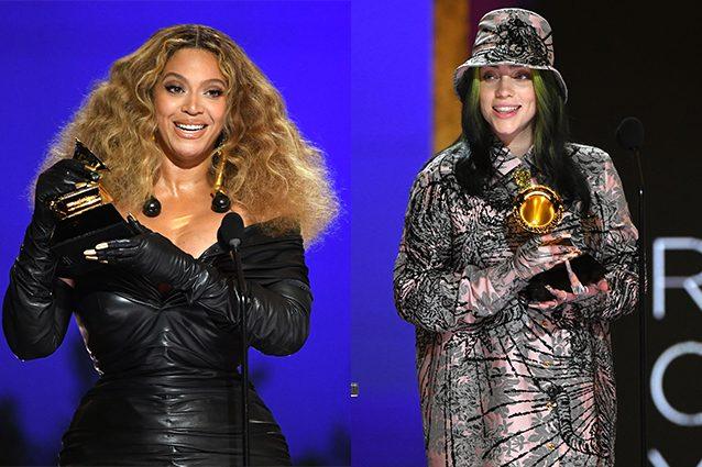 Beyoncé e Billie Eilish, Grammy 2021