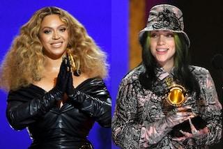 Beyoncé con unghie oro, Billie Eilish abbina nail art all'abito: dettagli di stile dai Grammy 2021