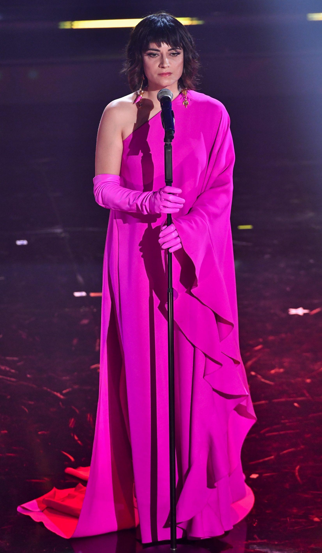 Veronica Lucchesi in Valentino a Sanremo 2021