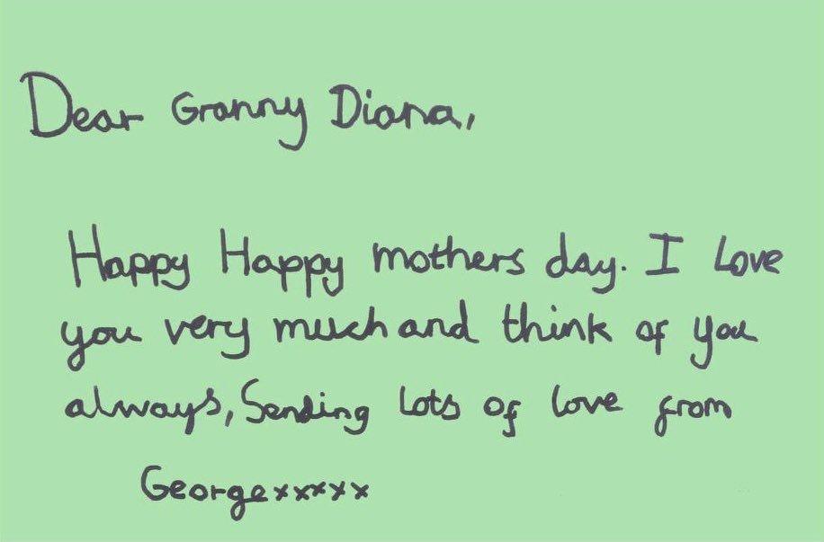 La lettera di George a Lady Diana