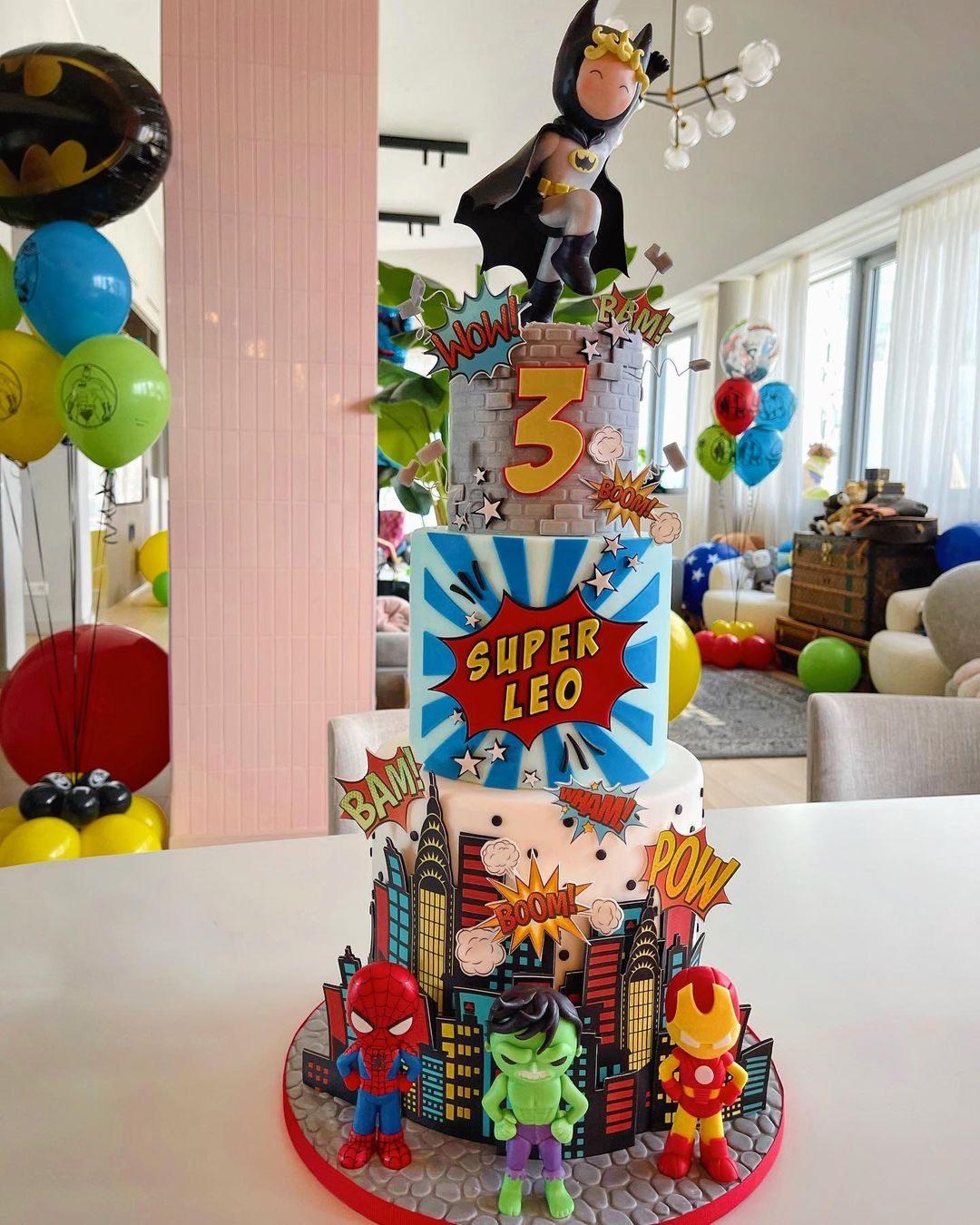 La torta personalizzata per i 3 anni di Leone