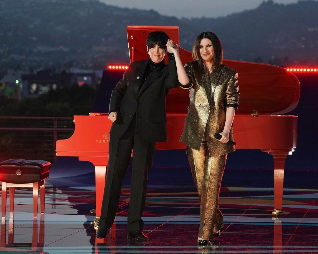 Laura Pausini in Valentino agli Oscar