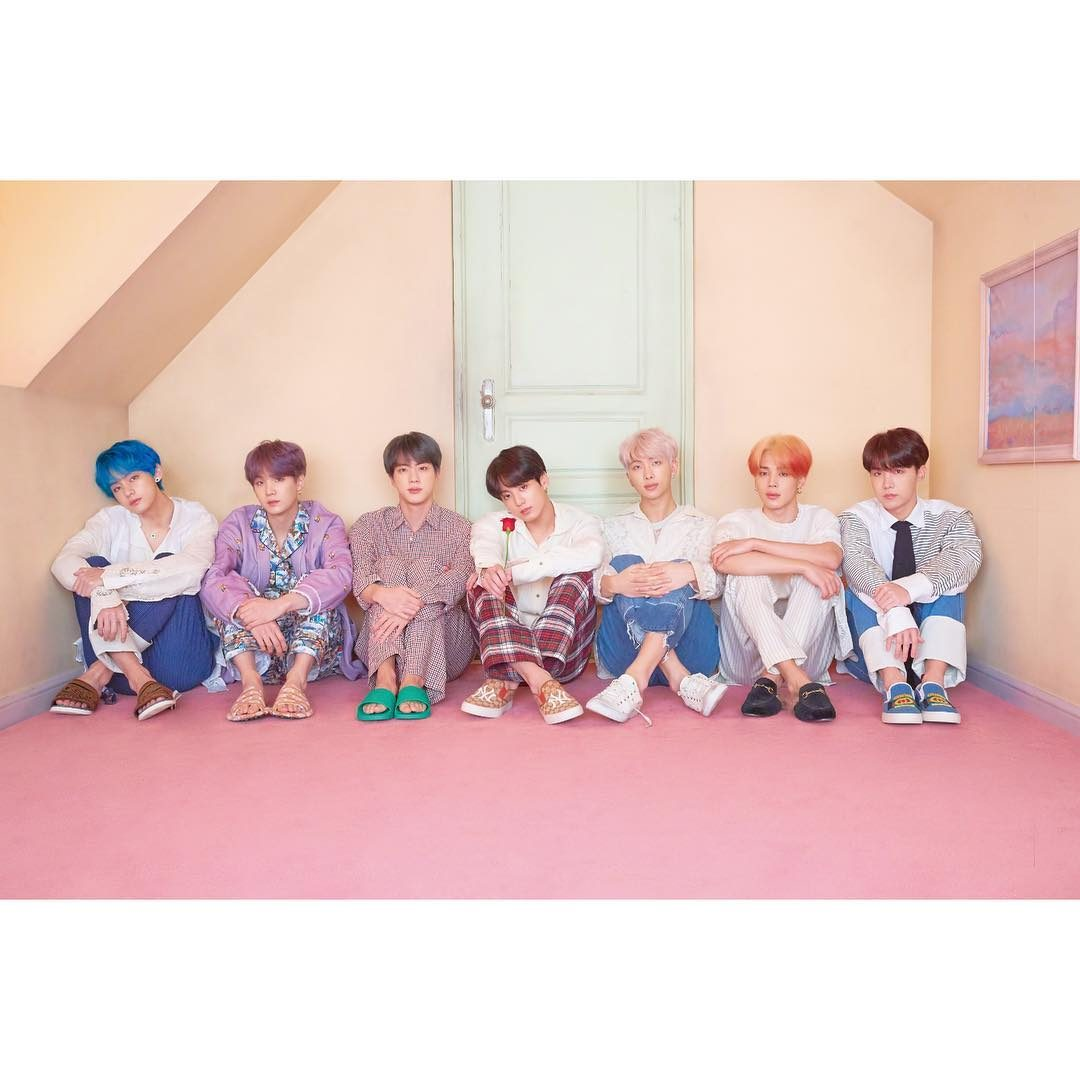 I BTS in uno scatto condiviso su Instagram