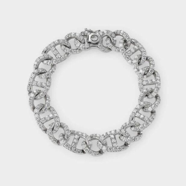Bracciale in oro bianco e diamanti Crivelli