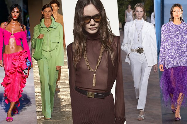 da sinistra Versace, BOSS, Saint Laurent, Alberta Ferretti, N°21
