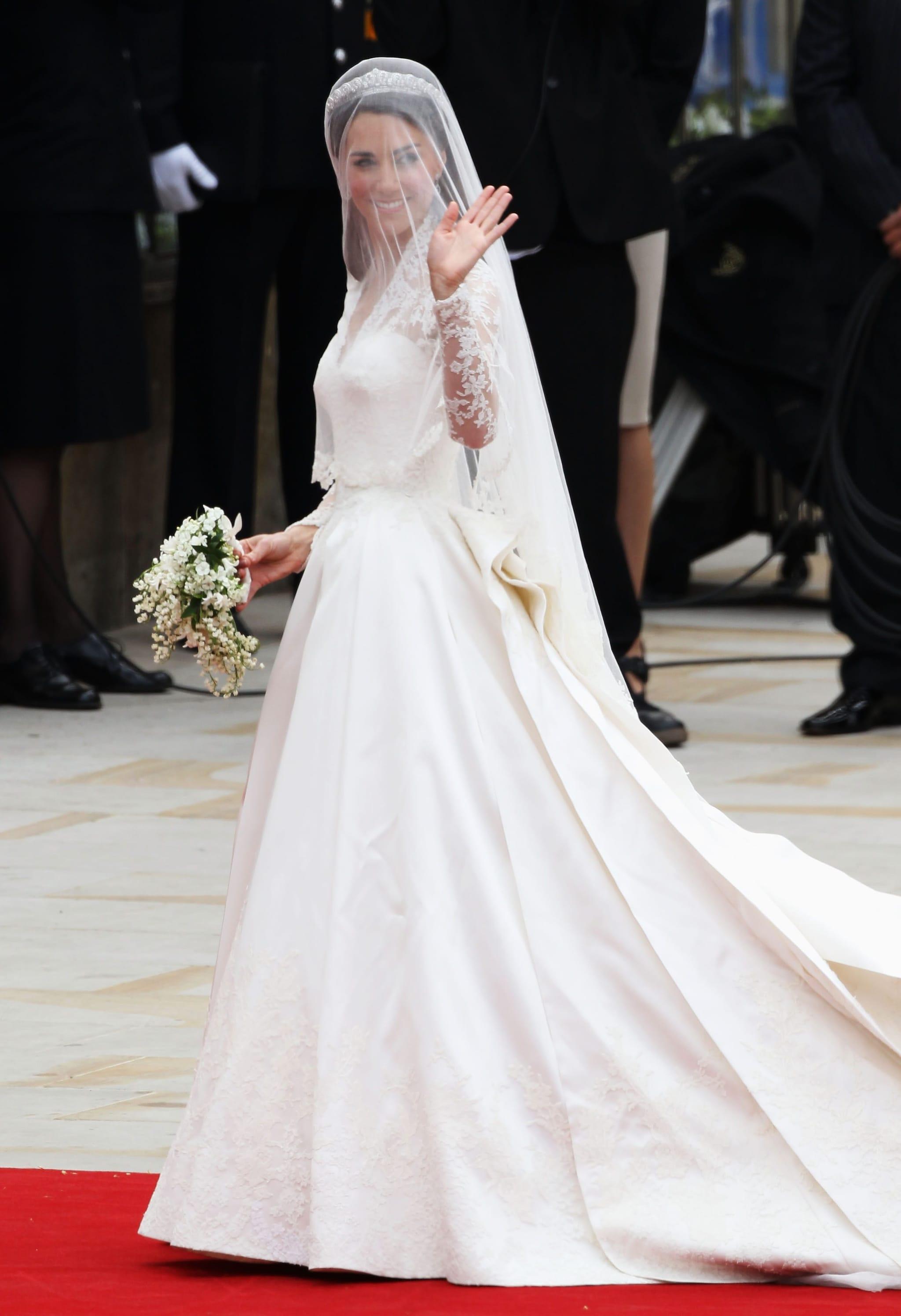 L'abito da sposa di Kate Middleton era firmato Alexander McQueen
