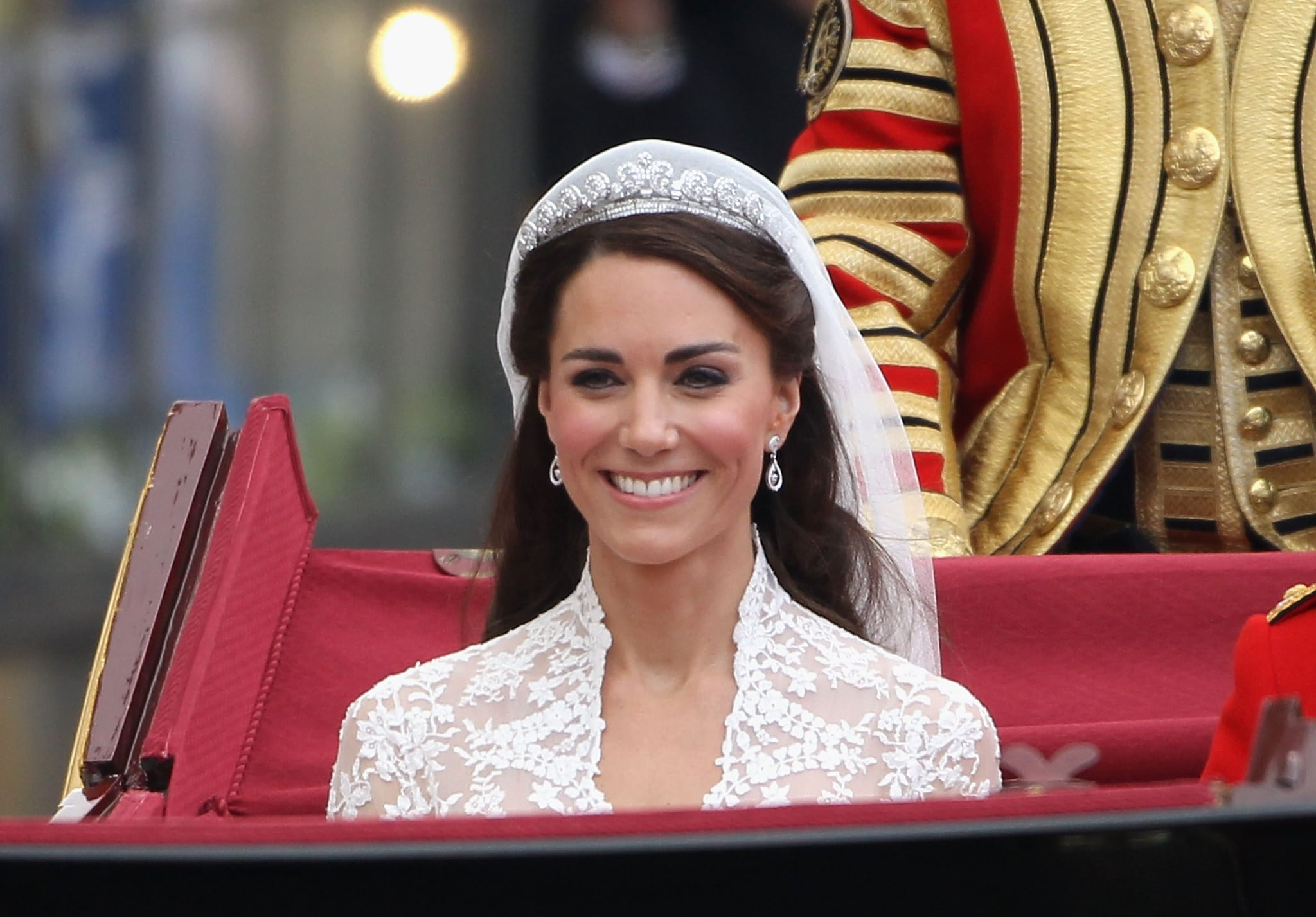 Kate Middleton con la tiara Halo di Cartier