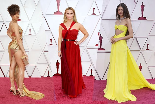 Andra Day in Vera Wang, Reese Witherspoon in Dior, Zendaya in Valentino