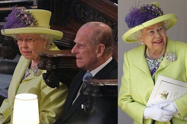 Elisabetta e Filippo al matrimonio di Harry e Meghan
