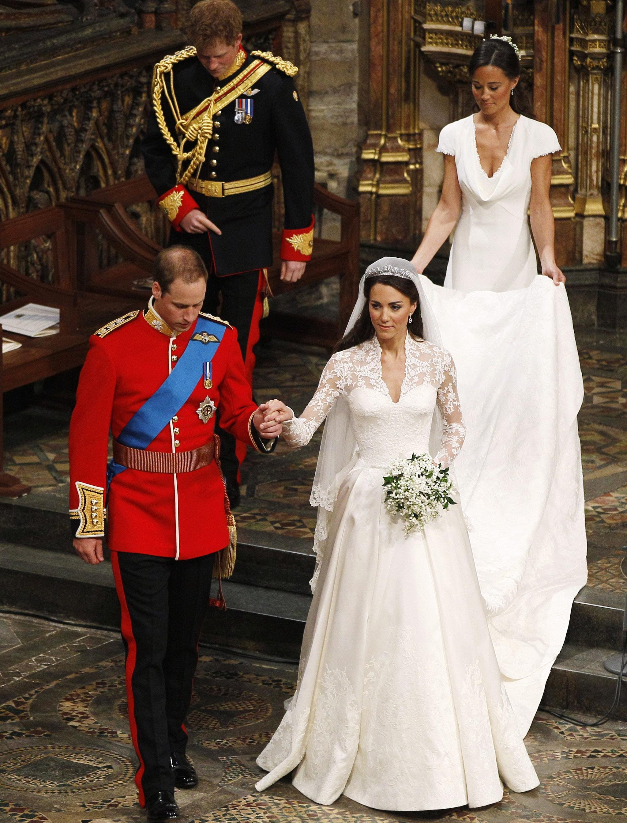 Un momento del matrimonio tra William e Kate