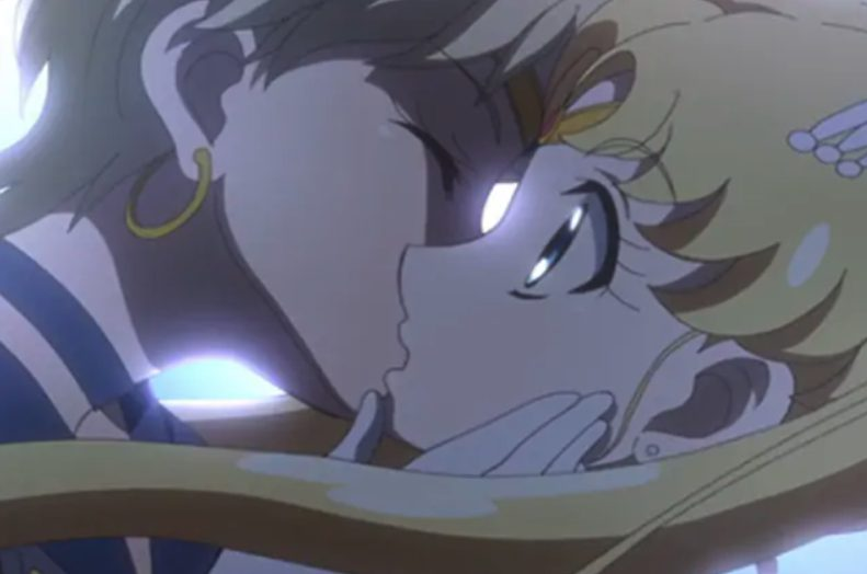 Il bacio tra Sailor Moon e Sailor Uranus
